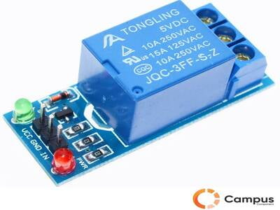 1 Channel Relay Module with lightcoupling 12V-AR-831-D
