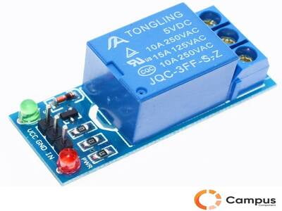 1 Channel Relay Module with lightcoupling 5V-AR-828-D