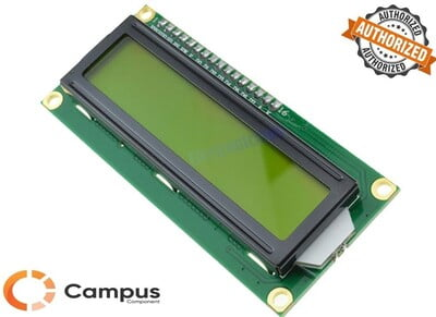 16x2 (S) LCD Yellow Green Backlight Low Height-LC-537-D
