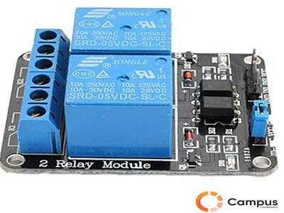 2 Channel Relay Module with lightcoupling 5V-AR-827-D