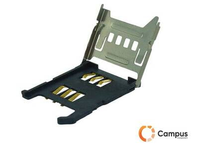 SIM Card Socket Metal Hinge Type 6Pin with Card Detect-SI-403-D