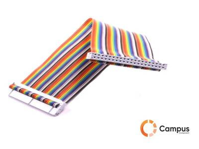 40pin GPIO Colorful Rainbow Cable 20cm-RA-947-D
