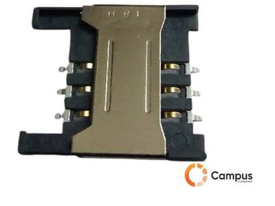 6 Pin Sim Card Holder Half Cut-SI-103-D