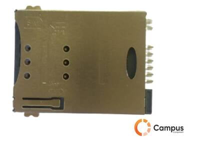 8 Pin Sim Card Holder Metal push push Type 3-SI-1023-D