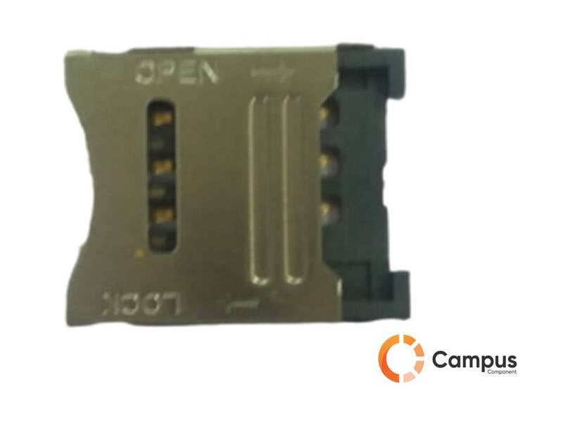 6 Pin Micro Sim Card Holder Hinge Type 1-SI-1025-D